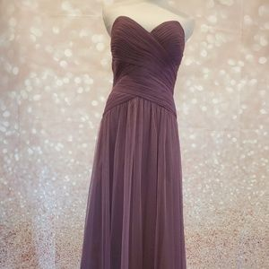 NWT Dessy Collection Tulle Strapless Gown